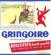 Buvard Biscottes Haute Qualité Gringoire Série Monument Et Lieux Parisiens Débarcadère Du Pont D'Iéna - Biscottes