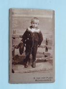 ENFANT - KIND - CHILD ( CDV Photo S. VAN DER PLAAT Middelharnis ) Anno 19?? - Voir Photo Pour Details !! - Anonymous Persons