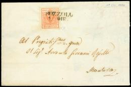 BOZZOLO 1 giugno (1850) SD su c. 15 della prima tiratura, lettera quasi completa per Mantova firma E. Diena e cert....
