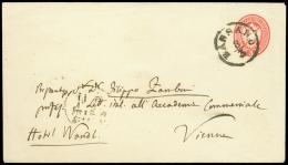 BASSANO C1, busta postale da 5 sd. (Interit. 10) diretta a Vienna, bollo di arrivo. / [COVER]