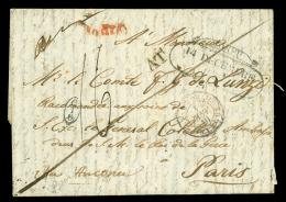 DA ZANTE (Isole Jonie) via Trieste a PARIGI (Francia), lettera del 2 dicembre 1839 in porto parzialmente pagato...