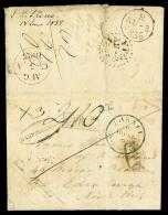 Da PHELLIS (Grecia) via Trieste ad Edimburgh (Scozia), lettera del 18.6.1835 aperta e disinfettata a Trieste nel...