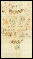 LAZZARETTO di Malta, lettera del 10.12.1836 da Marsiglia (via Trieste) a Malta in porto parzialmente pagato dal...