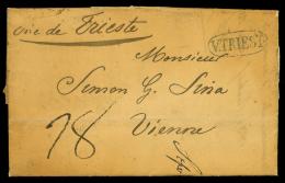 Lettera da Alessandria (Egitto) via Trieste a Vienna, lettera del 1.5.1833 partita da Alessandria tramite il...