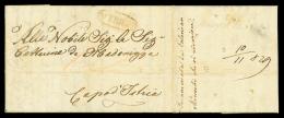 DA ODESSA (Russia-mar Nero) via Trieste a CAPODISTRIA (Kuestenland), lettera del 22 ottobre 1829. All'ingresso nel...