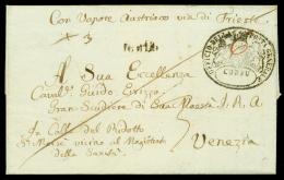 DA CORFU' (Ionian Islands) via Trieste per Venezia (L. Veneto), lettera del 17 marzo 1838 da Corfù a Venezia...