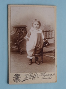 KIND - CHILD - ENFANT ( CDV Photo J. BEFF Anvers ) Anno 19?? ! - Anonymous Persons
