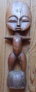Statuette Africaine Anthropomorphique - Haut. 30 Cm - Larg. 9,5 Cm - Poids 480 G Avec Emballage Soigné - 8 - African Art