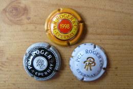 Champagne POL ROGER - 3 Plaques De Muselet Différentes - Pol Roger
