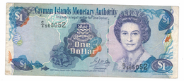 Cayman 1 Dollar 2001,  VF. Free Ship. To USA. - Iles Cayman