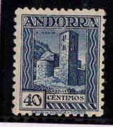 ANDORRA Nº 22DN. NUMERACION A.000,000 AL DORSO. CON CHARNELA. - Andorra Spagnola