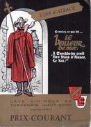 Cave Vinicole De Turckheim - Bon De Commande - Descriptif Et Tarifs, 1967 - Autres Collections