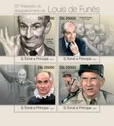SAO TOME E PRINCIPE 2013 SHEET LOUIS DE FUNES CINEMA ACTORS CINE ACTORES St13118a - Sao Tome Et Principe