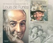 SAO TOME E PRINCIPE 2013 SHEET LOUIS DE FUNES CINEMA ACTORS CINE ACTORES St13118b - Sao Tome Et Principe