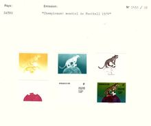 Zaire - 1974Football World Cup  - Colour Progressive Proofs - Leopard-  Mounted On 2 Courvoisier Archive Sheets, From Th - Zaïre