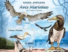 SAO TOME E PRINCIPE 2013 SHEET WATER BIRDS AVES PASSAROS UCCELLI OISEAUX St13219b - São Tomé Und Príncipe