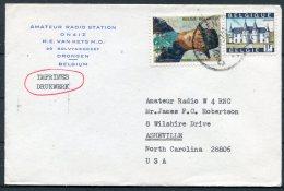 Belgium Amateur Radio Station Drongen Cover - Asheville, Norrth Carolina, USA - Stamps