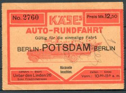 Germany Berlin - Potsdam - Berlin Auto-Rundfahrten, Thomas Cook & Son Ticket - Sonstige
