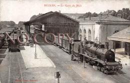 34 - Béziers - La Gare Du Midi - Train Locomotive - Beziers