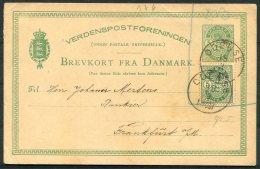 Denmark Uprated 5 Ore Stationery Postcard Odense - Frankfurt - 1864-04 (Christian IX)
