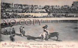 34 - Arènes De Béziers - Une Bonne Pique - Tauromachie Corrida Toréador - 1900 - Beziers