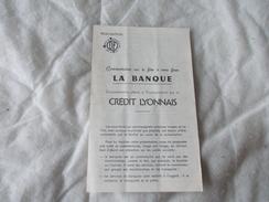 Notice De FILM FIXE ODF La Banque - Documentos Antiguos