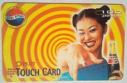 Philippines Phonecard 100 Pesos PLDT Touch Card PEPSI