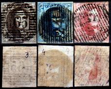 Belgio-129 - 1849-50: Yvert & Tellier N. 3, 4, 5 (o) Used - Senza Difetti Occulti.