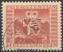 Landeswappen 1945: Zu 204 Mi 252 Yv 227 Mit Voll-o BALZERS 22.III.47 (Zumstein CHF 60.00 )