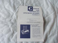 Notice De FILM FIXE Comment Sont Fabriqués Les Principaux Produits Verriers ? - Old Paper