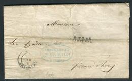 France - Lettre Avec Texte De L ' Intendant Général De Chambéry Pour Villard D 'Héry En 1852 - Ref A102 - Marcophilie (Lettres)