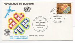 - DJIBOUTI - FDC 20 JUIN 1983 - 500 F. Année Mondiale Des Communications - - Djibouti (1977-...)
