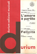 L'AMORE E' PARTITO - FELICITA' DI CARDILE - INTRA - Musica Popolare