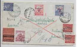 BÖHMEN UND MÄHREN - 1942 - ENVELOPPE EXPRES De PRAGUE Avec TAXE + OBLITERATION TELEGRAPHIQUE PNEUMATIQUE - Bohême & Moravie