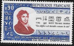 N° 1734    FRANCE  -  NEUF  -  160E ANNIV. DECHIFFREMENT DE HYEROGLYPHES PAR CHAMPOLION  -  1972 - Neufs