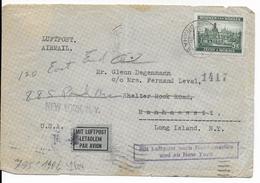 BÖHMEN UND MÄHREN - 1940 - ENVELOPPE Par AVION De PRAGUE Avec CENSURE AU DOS => MANHASSETT (LONG ISLAND - USA) - Bohême & Moravie
