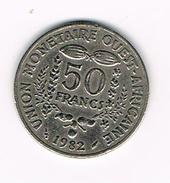 )  WEST AFRICAN STATES  50 FRANCS  1982 - Centrafricaine (République)