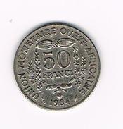 )  WEST AFRICAN STATES  50 FRANCS  1984 - Centrafricaine (République)
