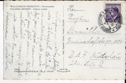 BÖHMEN UND MÄHREN - 1944 - CARTE De WALLACHISCH MESERITSCH => Le CAMP De TRAVAIL D.A.F De MUTSCHAU üBER ZEITZ - Bohême & Moravie