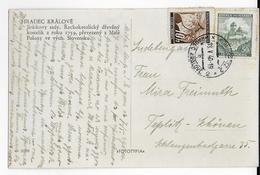 BÖHMEN UND MÄHREN - 1940 - CARTE De HRADEC KRALOVE => TEPLITZ SCHÖNAU - Lettres & Documents