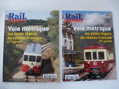 FRANCE : Lot De 2 N° RAIL PASSION HS - FRANCE - VOIE METRIQUE  - Détails Sur Les Scans. - Railway & Tramway