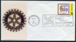 1979 Philippines Manila Rotary Club Conference Cover - Philippines