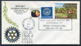 1977 Philippines Manila Rotary Club Conference Cover - Philippines