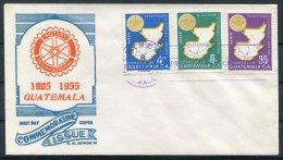 1955 Guatemala Rotary International FDC, First Day Cover - Guatemala