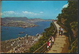 °°° 4193 - HONG KONG - BIRD'S EYE VIEW OF HONG KONG CENTRAL AREA AND KOWLOON PENINSULA - With Stamps °°° - Cina (Hong Kong)