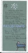 71495 ARGENTINA ART AÑO 1910 MENU 8 X 15 CM NO POSTAL TYPE POSTCARD - Menükarten