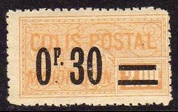 France Colis Postaux N° 35 XX  0 F. 30 Sur 2 F. Jaune,  Sans Charnière, TB - Colis Postaux