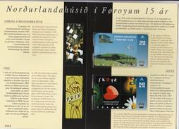 Faroe Islands, FAR-FO-05, OD-017 - 018, 2 Mint Cards In Folder, Nordic House 15 Years, 2 Scans. - Faroe Islands