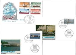 1405f: 6 Verschiedene Schiffsmotive, Berlin- FDC- Kuverts Lt. Scans - Schiffahrt