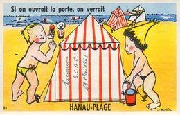 CPA - HANAU-PLAGE (57) - Carte à Système Avec Un Volet Découvrant Un Accordéon De 10 Photos - Environs D'Eguelshardt - France